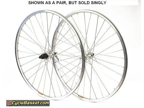 CBC Handbuilt Front Wheel - Mavic Open Pro Silver on Shimano Tiagra Hub. click to zoom image