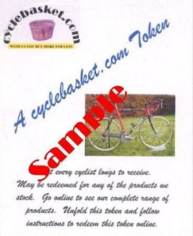 CYCLEBASKET.COM Gift Tokens £40.00 click to zoom image