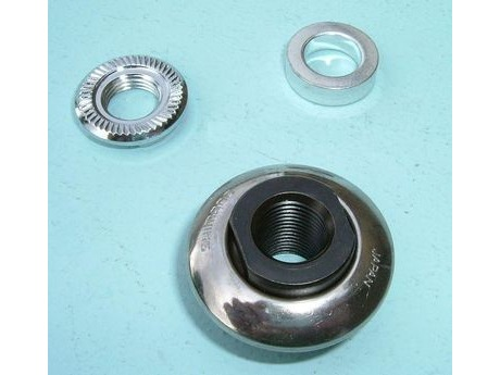 Shimano 3CJ 9805 FH-5600 Left Hand Lock Nut, Spacer & Cone. click to zoom image