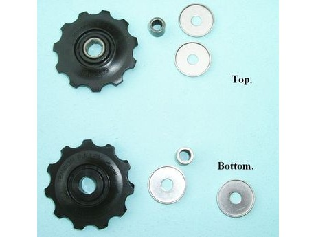 Shimano 5XH 9812 RD-5700 Tension & Guide Pulley Set click to zoom image