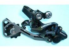 Shimano RD-M615 Deore 10 Speed Shadow+ design rear derailleur.