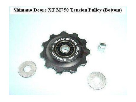 Shimano Deore XT M750/760 Tension Jockey Wheels 9 Speed. click to zoom image